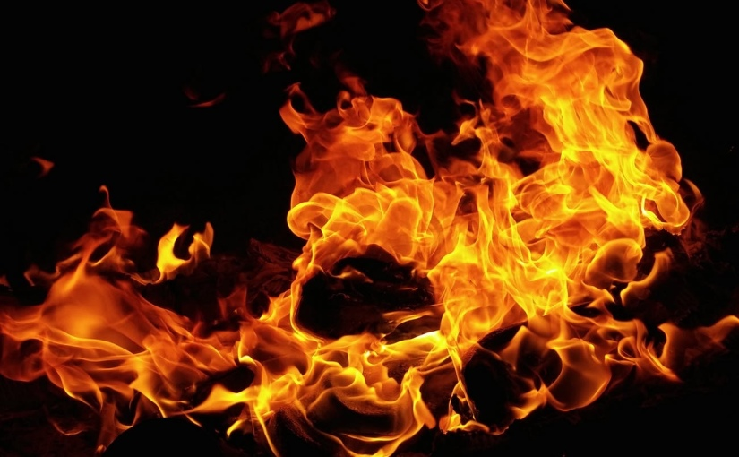Livet är som ett brinnandeflygplan
